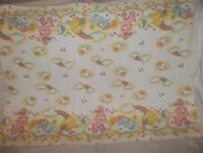 Vintage 1983 Blanket Carebear Care Bear Cotton Flannel Baby Receiving Hospital