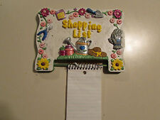wall hanging, Shopping List, ceramic hand painted, w/pen on chain & note pad