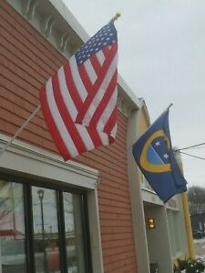 BRAND NEW BEST QUALITY CAST IRON FLAG POLE WALL MOUNT BRACKET HOLDER