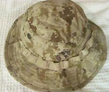 NEW USMC DESERT DIGITAL BOONIE HAT W/ EAGLE, GLOBE & ANCHOR, MEDIUM   *