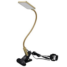 Clip On LED Desk Lamp Gold Table Lamp Touch Dimmable LED Bedside Reading Light