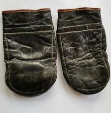 Vintage Boxing Gloves Dark Leather One Weighted Glove