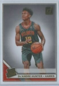 19-20 PANINI CLEARLY DONRUSS RATED ROOKIE ACETATE GOLD #54 De'ANDRE HUNTER HAWKS