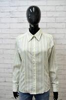 LUISA SPAGNOLI Donna Maglia Camicia Camicetta a Righe Taglia M Shirt Woman