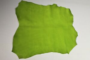 Lime Green Cow Hide Leather Handbag Accessory Apparel Belt Avg3 SqFt Smooth