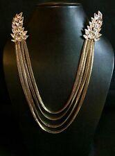 Bride/groom tenue kantha or diamant chaîne collier-indien mariage accessoire