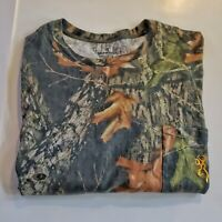 BROWNING Camouflage Hunting Brown Green Camo Pocket Tee 3XL T-Shirt 49-18