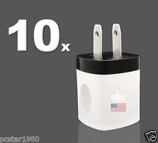 10x USB AC Wall Charger Power Adapter Plug Cube for iPhone 7 7+ 6s 6 6+ 5 5s 5c