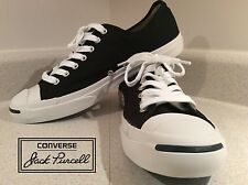 Converse Jack Purcell Sz.10 Black Sneakers Classic Chill Mod Punk Cons Low Cut