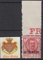 ITALY OLTRE GIUBA Sassone n.42 cv 215$  MNH**  MARGIN SHEET