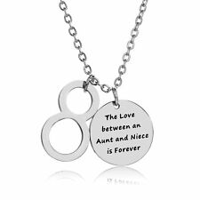 The Love Between An Aunt And Niece Is Forever Pendant Chain Necklace Gift Family