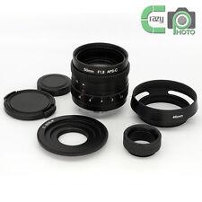 50mm F1.8 C-Mount Lens for APS-C Cameras Canon EOS M M1 M3 M10 Bundled Adapter