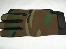 TACTICAL GLOVES NEOPRENE CAMOUFLAGE SIZES S,M.L,XL
