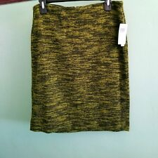 Grace Elements Green Skirt Knee Length Straight size Medium