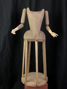 Madonna Manichino Gabbia Stile '600 Vintage Statua Santa 50 cm arte sacra corpo