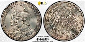 5 Mark 1901AWilhelm II Kingdom of Prussia Kingdom of Prussia German UNC PCGS