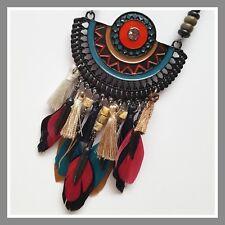 Collier LOL bijoux Lolilota pompon perle rose bleu multicolore doré métal plume