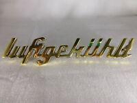 """Deutz Schriftzug Emblem """"luftgekühlt"""", D-Serie, D15, D25, D30, D40, D50, D80"""