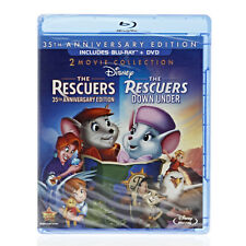 The Rescuers/The Rescuers Down Under 35th Anniversary (Blu-ray + DVD) SEALED