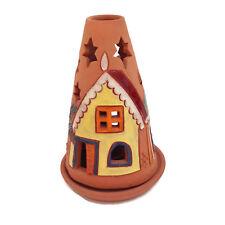 "AJOUPA Pottery Trinidad Tabago Carribbean Terra Cotta Luminary Candle Holder 8"""