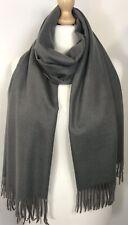Cashmere Blend Scarf Pashmina Grey Brushed Warm Soft Cosy Oversized Long NEW