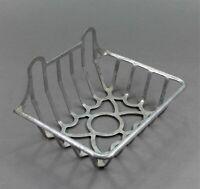 grand porte savon, éponge en aluminium de forme rectangle type industriel
