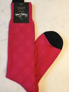 HAPPY SOCKS Pink on Pink POLKA DOTS Cotton/Nylon/Spandex Dress SOCKS NWT