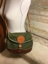 Duluth Pack Deluxe Shell Bag Green Canvas Leather