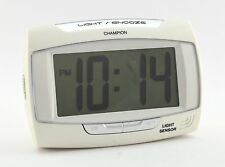 Champion Alarm Clock Auto Light Sensor Crescendo Snooze 12/24hr Battery Mains