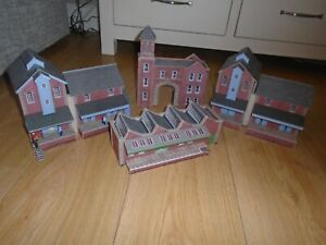 Collection of Metcalfe Card Industrial Buildings for Hornby OO Gauge Train Sets