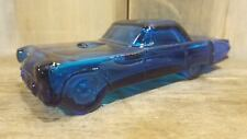 Vintage 1955 Ford Thunderbird Blue Glass After Shave Avon Bottle Empty