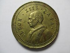 MEDALLA RELIGIOSA PAPA LEON XIII PROMOVIDO AL PONTIFICADO 3 MARZO 1878
