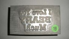 """Kwikprint """"I Love You Beary Much!"""" Hot Foil Stamping Printing Embossing Cast Die"""