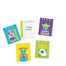 Mini Easter Spiral Notebooks, 12 Holiday Notepads, Favors, Prize Eggs, Teacher