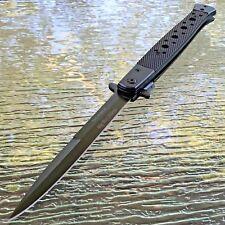 """TAC FORCE 13"""" SPRING ASSIST TACTICAL LARGE STILETTO G10 Pocket Knife Fold Open"""