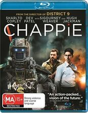 Chappie (Blu-ray) Action, Crime, Drama, Hugh Jackman, Dev Patel, Sharlto Copley