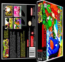 Super Mario World 2 Yoshis Island - SNES Reproduction Art Case/Box No Game.