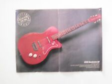 """1956 Danelectro U2 / Guitar World Double Sided Pull Out  Poster 11""""x15"""""""