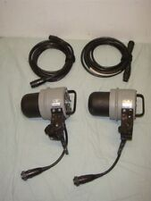 LOT OF 2 DYNALTITE 4040 PORTABLE STUDIO FLASH STROBE HEADS W CABLES