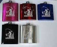 hf3  Fishing Personalised Engraved Hip Flask