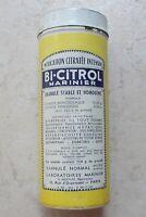 Boite métal ancienne tole jaune Bi-Citrol Marinier Médication Pharmacie Vintage