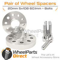 Spacers & Bolts 20mm for Renault Clio Sport 200 Mk3 09-14 On Aftermarket Wheels