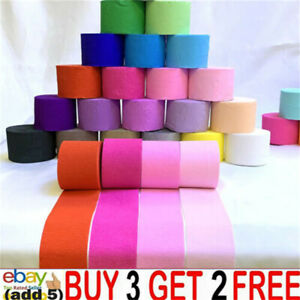 82FT Crepe Paper Party Streamers Roll Birthday Wedding Hanging DIY Decor Craqq