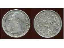 BELGIQUE 2 francs 1909 ( des belges  )  argent