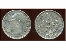 BELGIQUE 2 francs 1909 ( des belges  )  argent  ( bis )