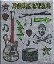 ROCK STAR Metallic Scrapbook Stickers