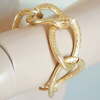 BRACCIALE donna oro anelli catena dorato pulsera bracelet armband браслет B29