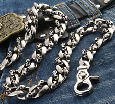 Medieval Skull Symbol Heavy Jeans Wallet Key Chain CS57