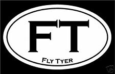 """Fly Tyer"" oval decal - Fly Tying / Fishing Sticker"