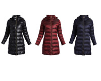 Mk Puffer Packable Down Quilted Womens Long Winter Wear Michael Kors Hooded Coat